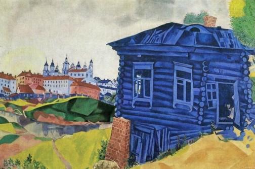 la casa blu chagall