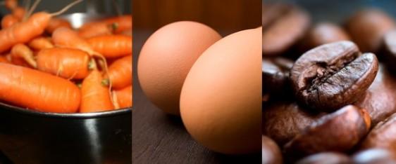 carota uova caffè